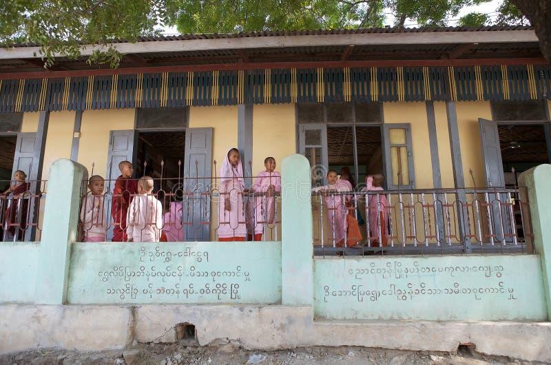 缅甸的学生 库存照片