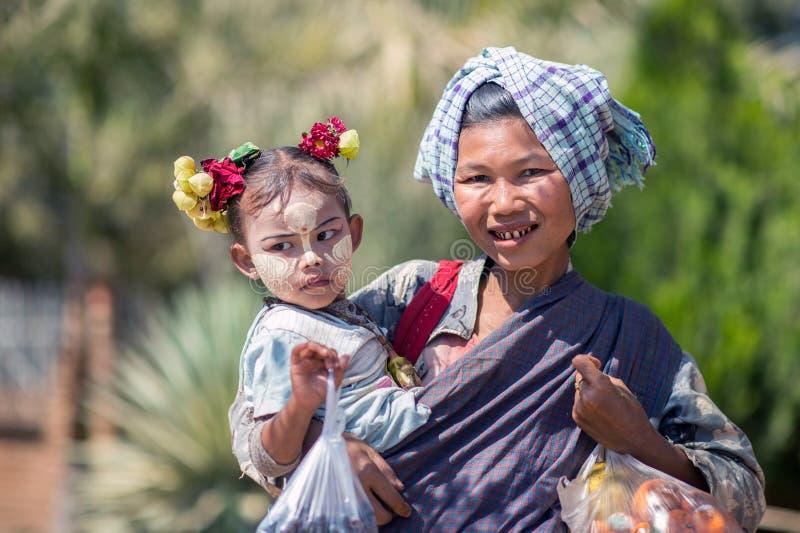 缅甸的面孔 库存图片