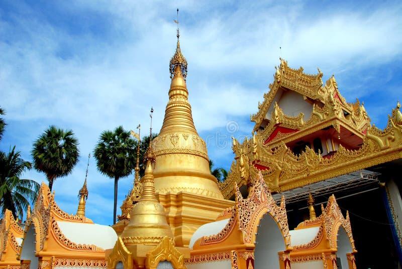 缅甸的dhammikarama乔治城马来西亚寺庙 免版税图库摄影