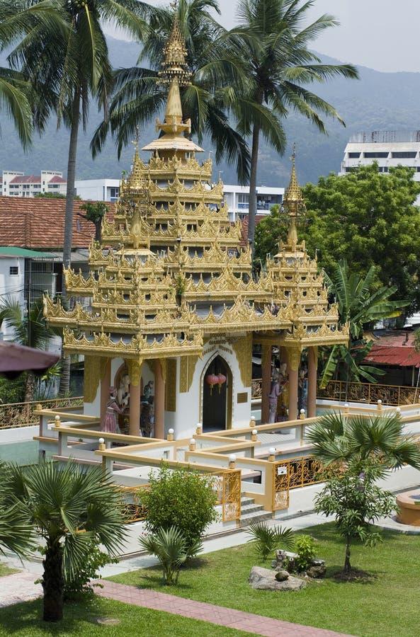 缅甸的dharmikarama寺庙 免版税图库摄影