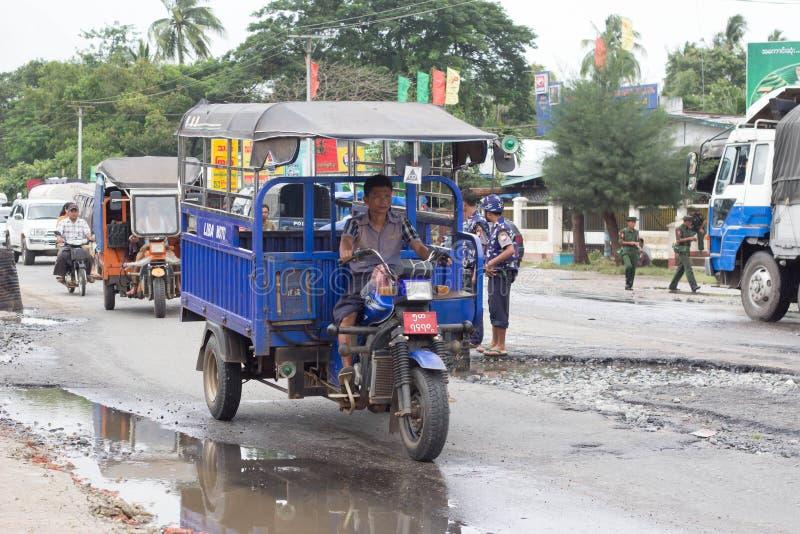 缅甸运输 免版税库存图片