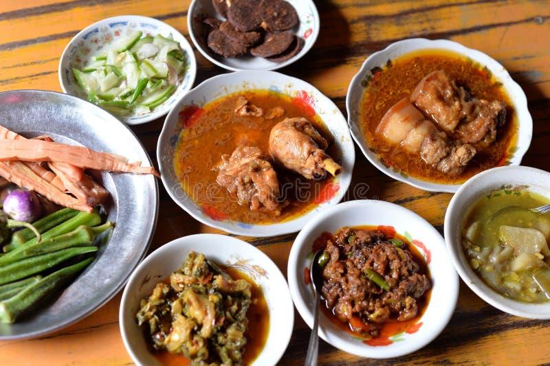 缅甸食物集合 免版税库存图片