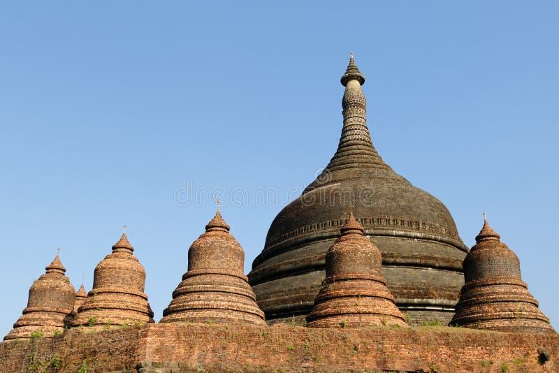 缅甸(缅甸), Mrauk U - Ratanabon Paya 免版税库存图片
