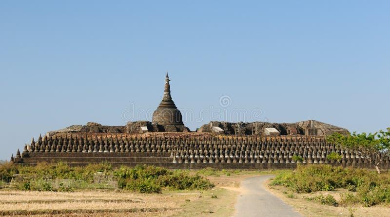 缅甸kothaung mrauk缅甸寺庙u 免版税库存图片