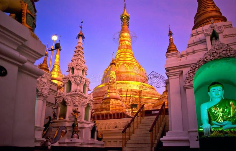 缅甸paya shwedagon yangoon 库存照片
