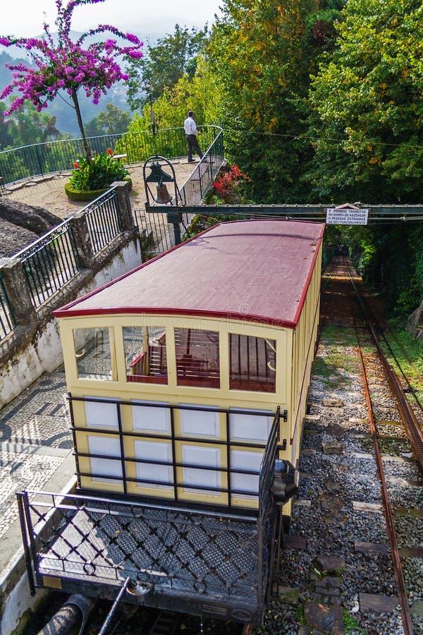 缆索铁路Bom耶稣做Monte圣所 库存照片