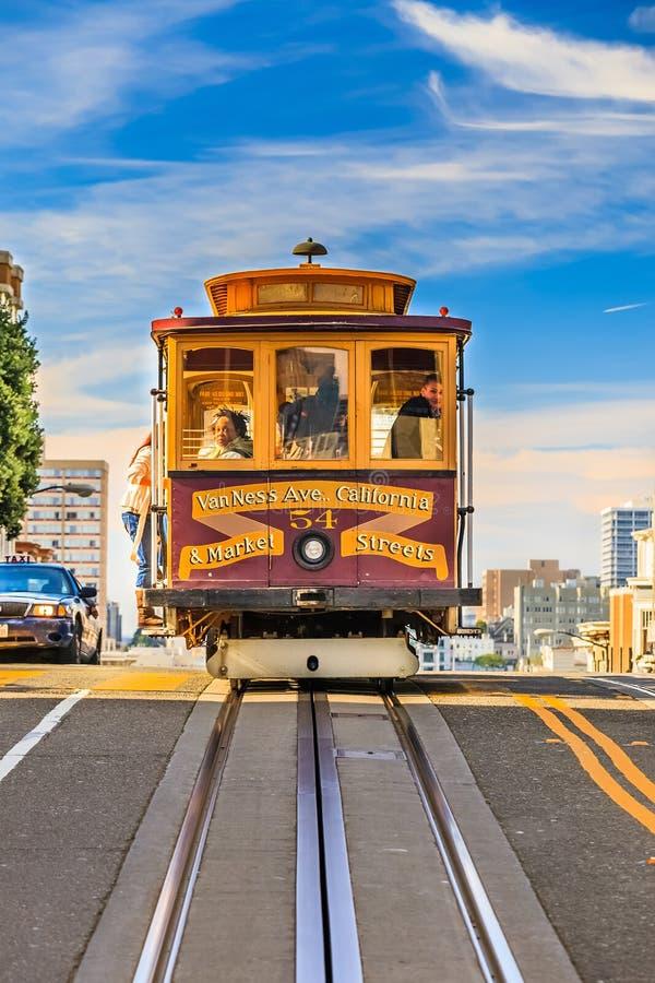 缆车在旧金山 库存照片