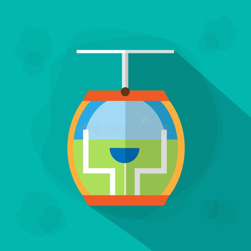 Download 缆车客舱象平的传染媒介 向量例证. 插画 包括有 平面, 旅游业, 绳索, 客舱, 生活方式, 查出, 运输 - 62525319