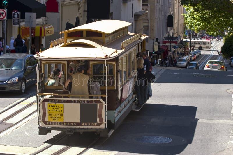 缆车弗朗西斯科・圣 免版税图库摄影