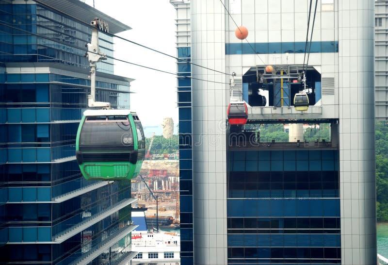 缆车新加坡 库存图片