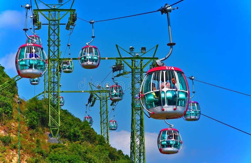 缆车香港海洋公园 库存图片