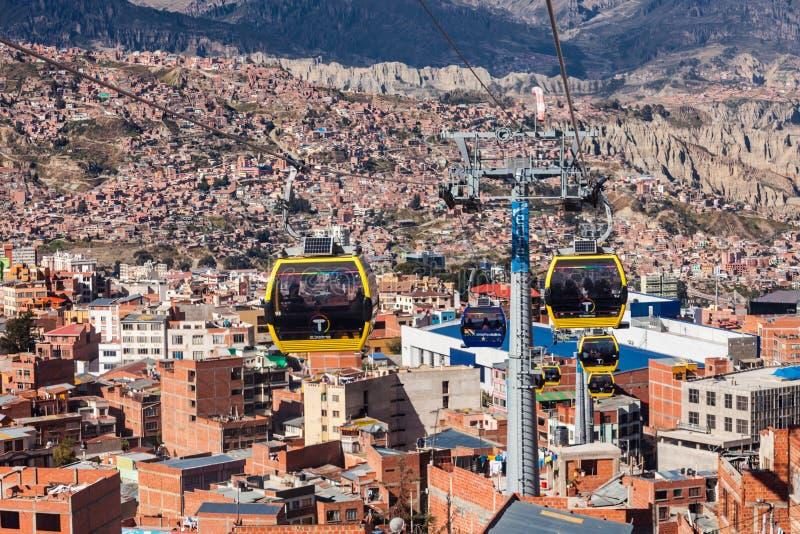 缆车, Lapaz 图库摄影