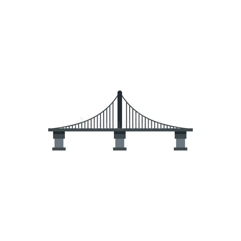 缆绳停留了桥梁象,平的样式 皇族释放例证