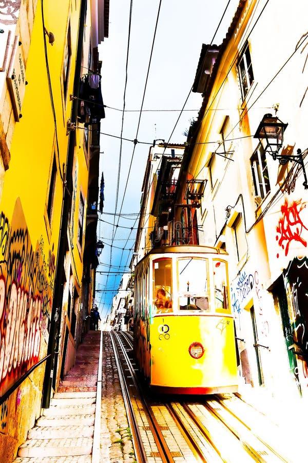 缆索铁路的Bica 库存图片
