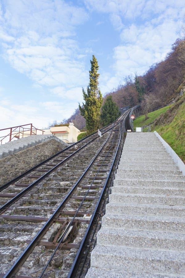 缆索铁路 库存图片