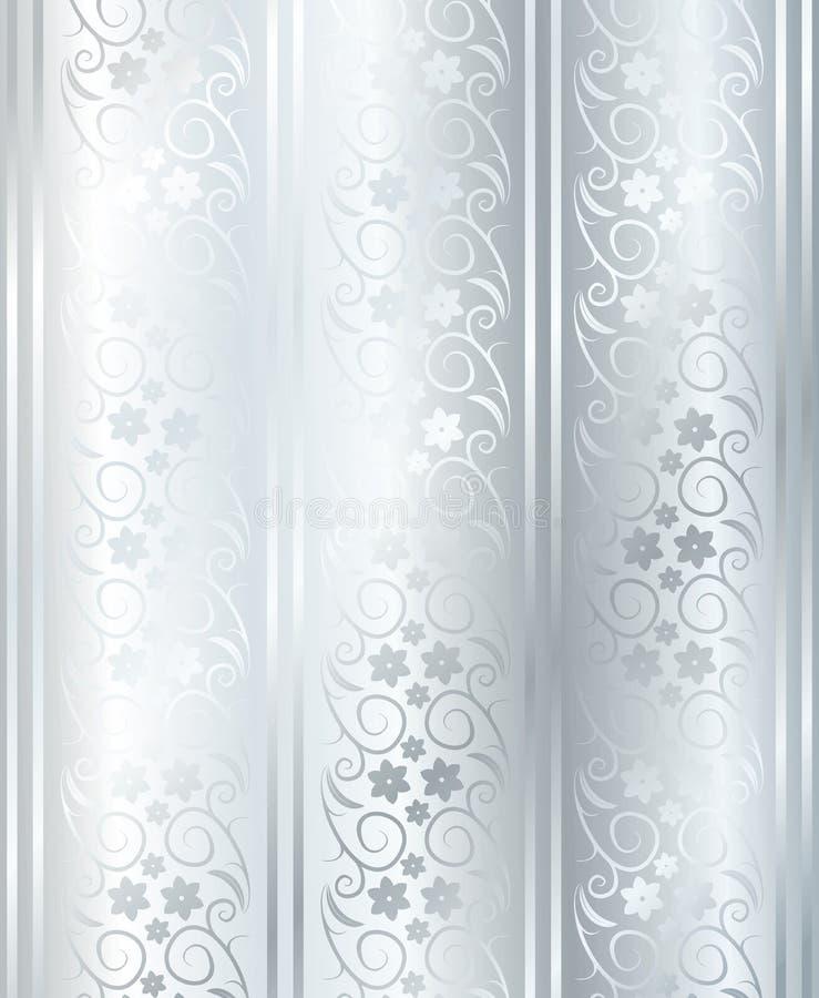 缎无缝的银色向量 库存例证