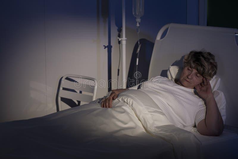 缓和病区的患者 库存图片