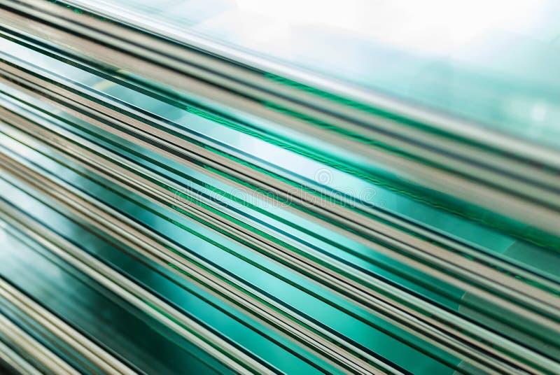 缓和玻璃窗板料  库存照片