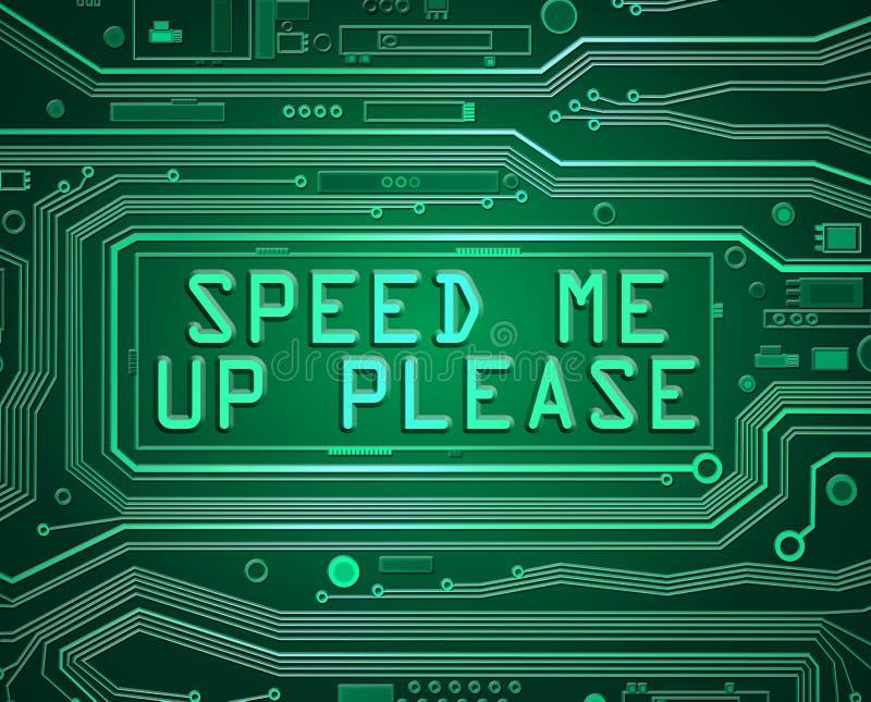 缓慢的计算机概念 皇族释放例证
