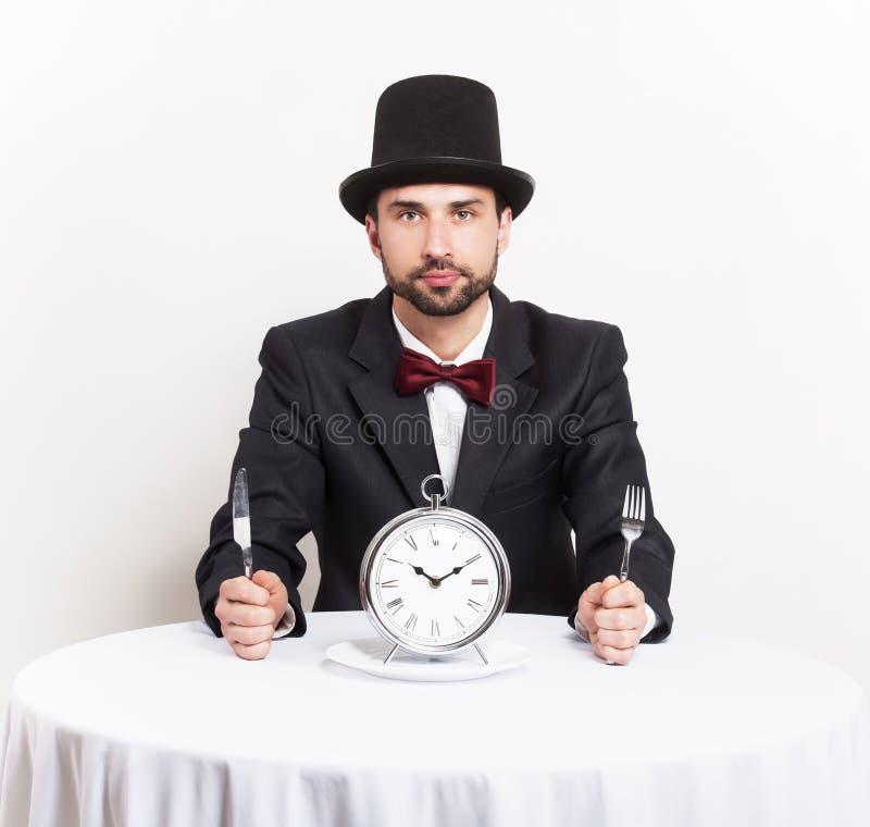 缓慢的餐馆服务概念 库存图片