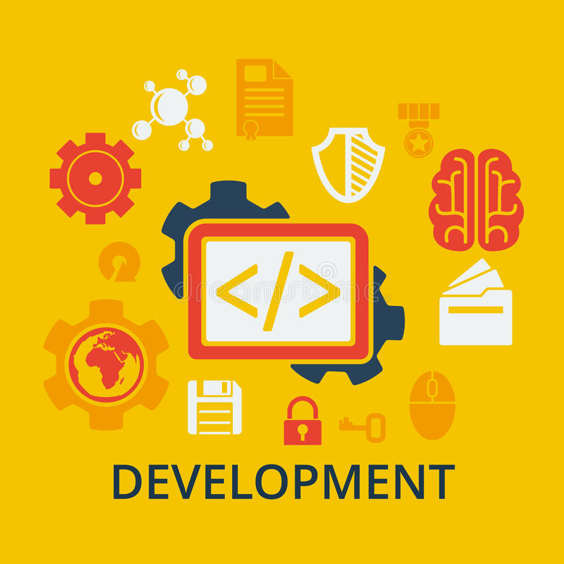 编制程序和发展的象概念 库存例证