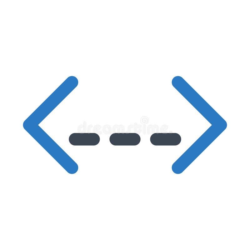 编制程序纵的沟纹双重颜色象 向量例证
