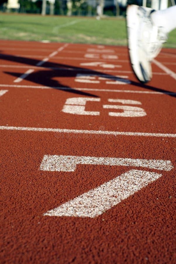 编号体育运动跟踪 免版税图库摄影