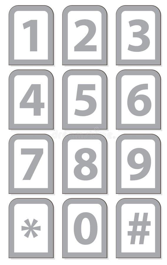 编号电话键盘 向量例证