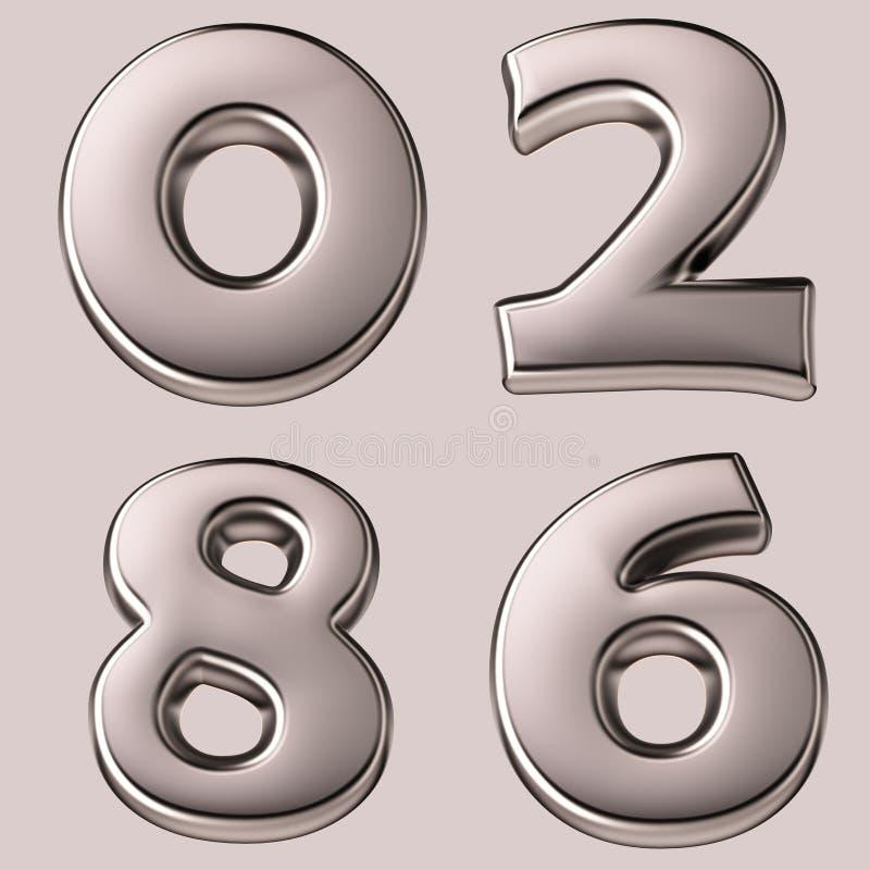 编号银 向量例证