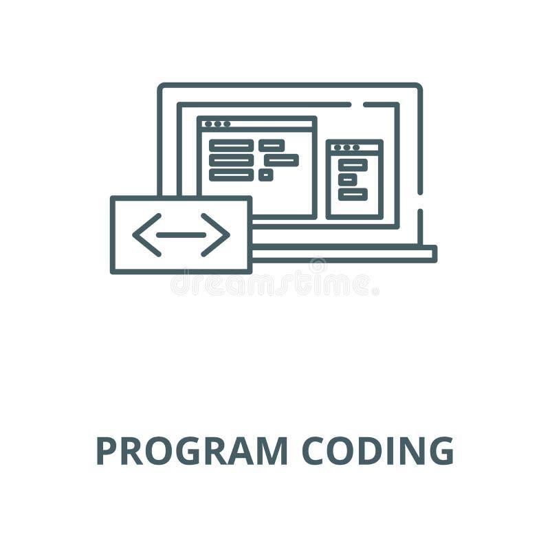 编码传染媒介线象,线性概念,概述标志,标志的节目 向量例证