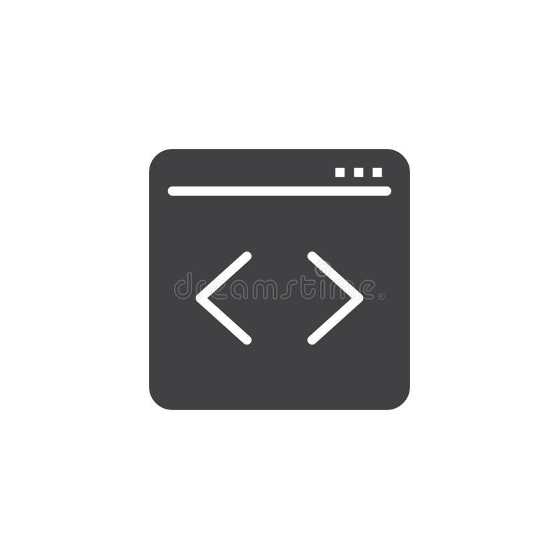 编码传染媒介象的网页 皇族释放例证