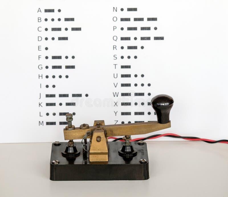 编码例证信函莫尔斯编号标点集合向量 库存照片