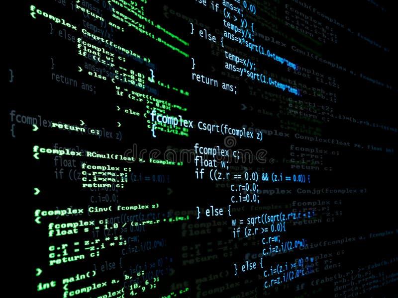 编码数字式程序 皇族释放例证