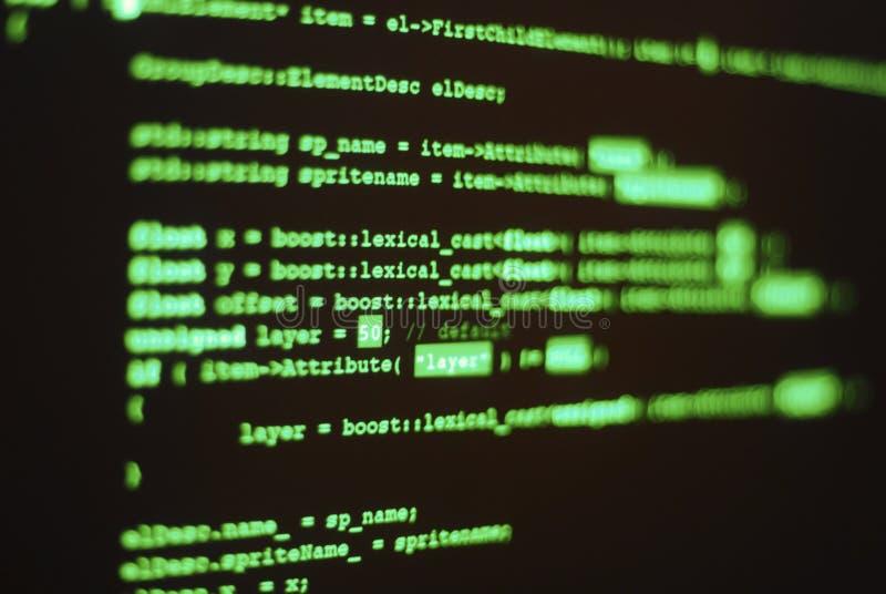编码计算机程序 库存照片