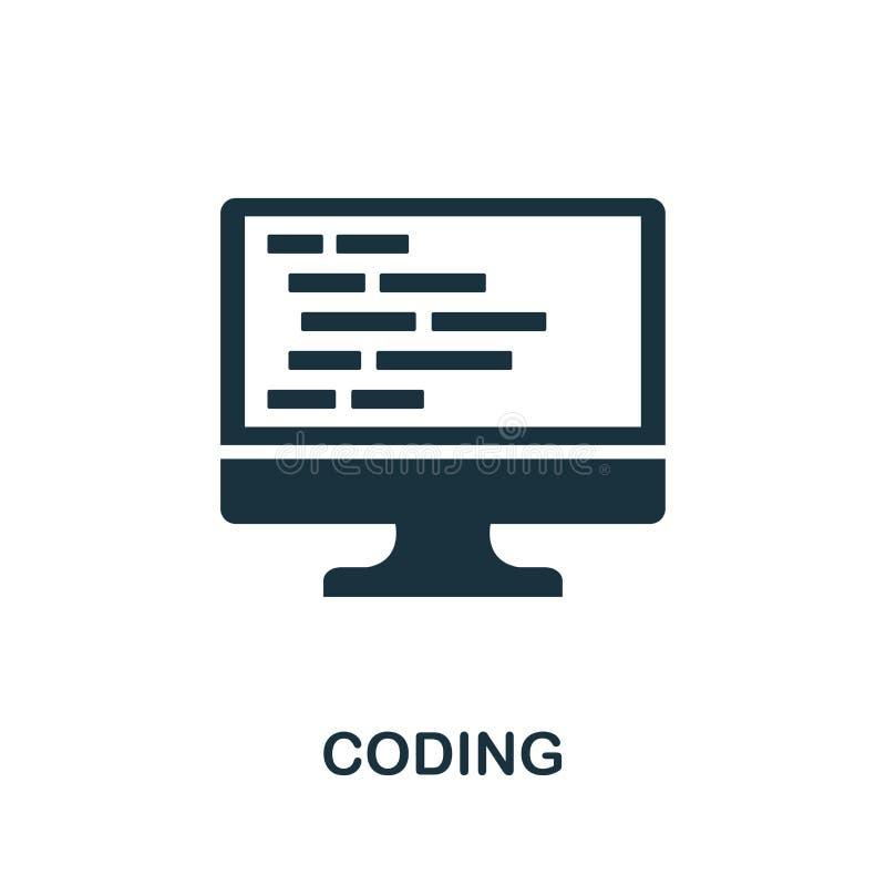编码象 从程序员象汇集的创造性的元素设计 网络设计的映象点完善的编码的象,应用程序 皇族释放例证