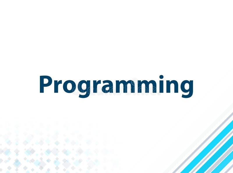 编程的现代平的设计蓝色抽象背景 向量例证