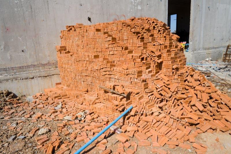 编组建筑的许多砖 库存照片