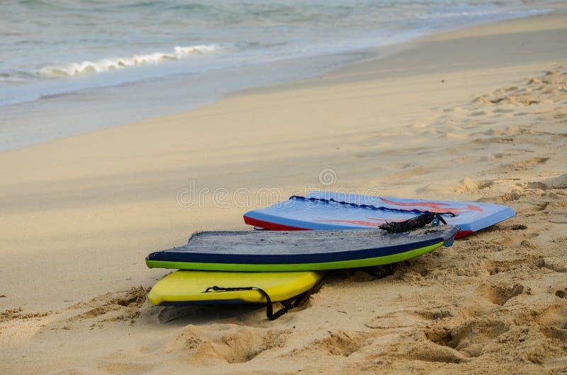 编组海滩的3个识别不明飞机委员会在夏威夷 库存照片