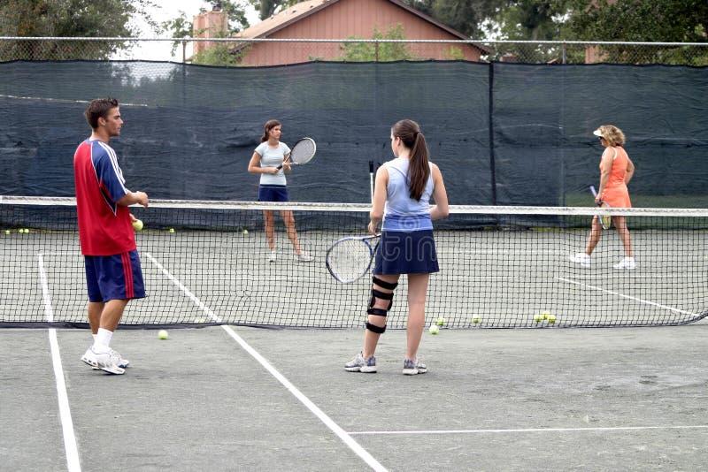 编组球员网球 库存图片