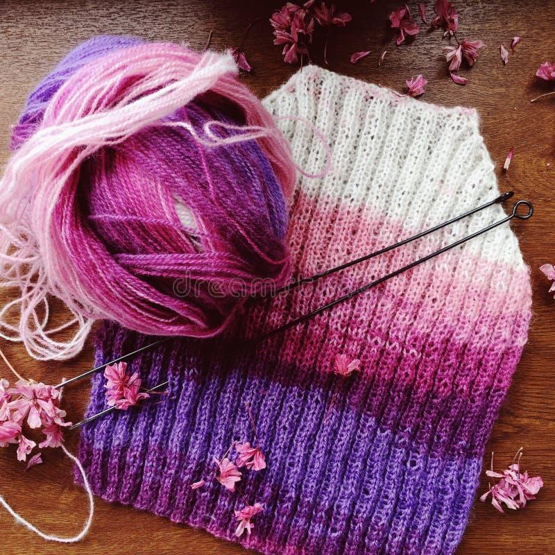 编织的婴孩套头衫 库存图片