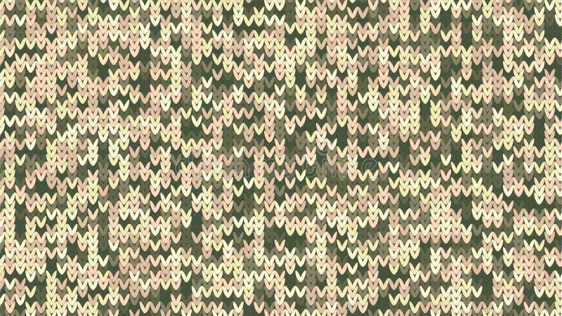 编织的纹理 冬天毛线衣假日设计 与空的空间的编织背景文本的 也corel凹道例证向量 库存例证