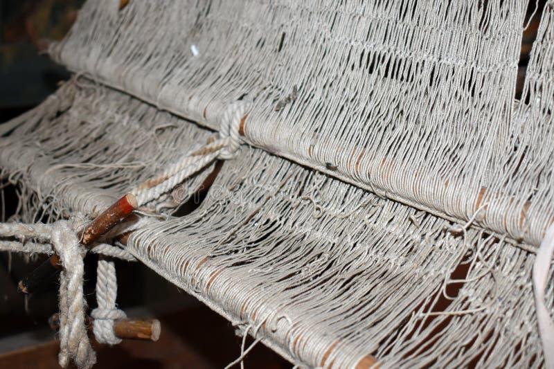 编织的缝纫机地毯 免版税图库摄影