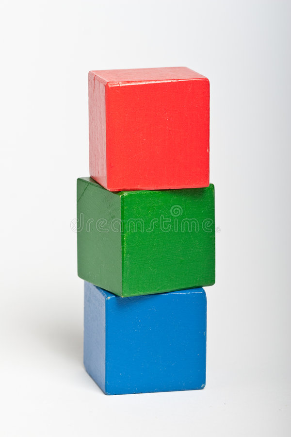 编译玩具的块木 免版税库存照片