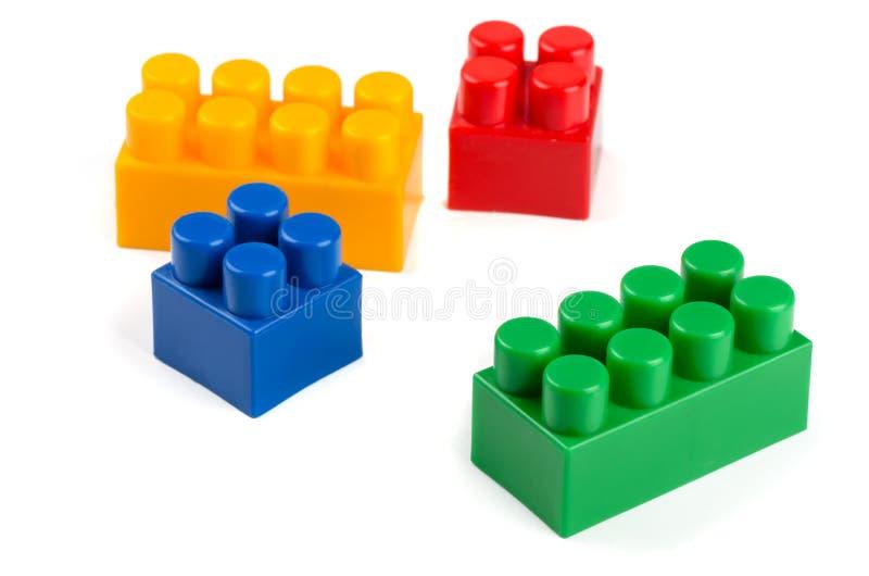 编译玩具的块 库存照片