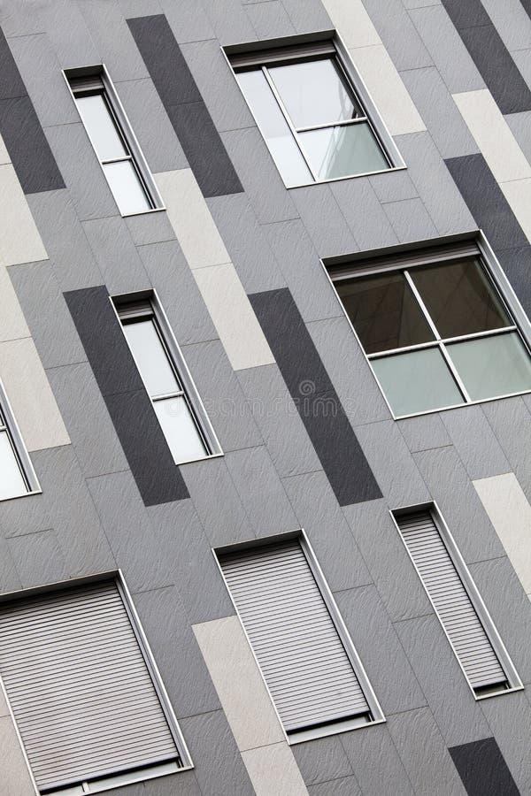 编译现代 一个现代大厦的外在门面 巴塞罗那西班牙 免版税图库摄影