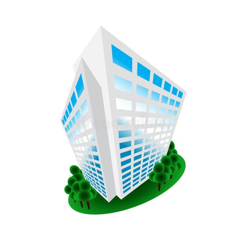 编译的设计家庭房子等量徽标办公室 向量例证
