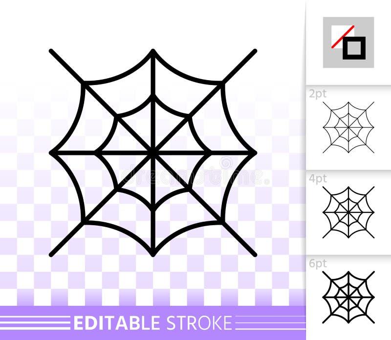 编辑可能的冲程蜘蛛网稀薄的线象 向量例证