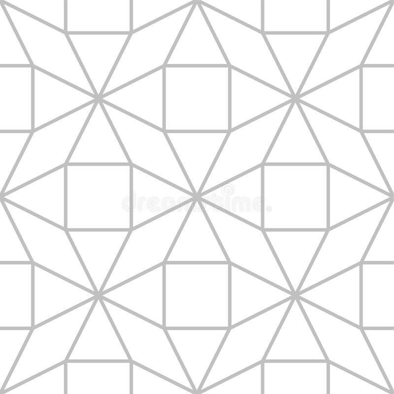 编辑可能的无缝的几何样式瓦片 库存例证