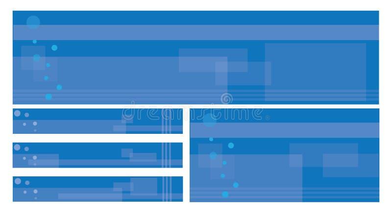 编辑可能的模板万维网 库存例证