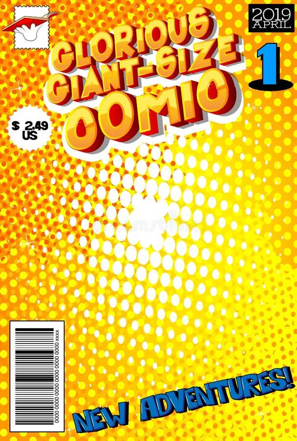 编辑可能的漫画书套有抽象背景 皇族释放例证